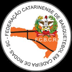 Logo Federação Catarinense de Basquetebol em Cadeira de Rodas